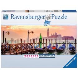 PUZZLE ravensburger GONDOLE A VENEZIA 1000 pezzi PANORAMA 98 x 38 cm