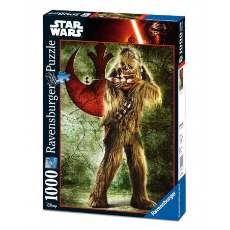 PUZZLE Ravensburger STAR WARS Chewbacca 1000 PEZZI 50 x 70 cm DISNEY ultimate collection