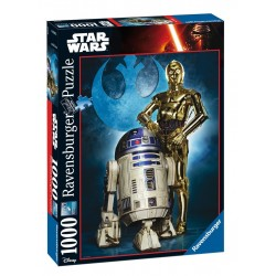PUZZLE Ravensburger STAR WARS r2d2 & c3po 1000 PEZZI 50 x 70 cm DISNEY ultimate collection