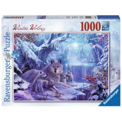 PUZZLE Ravensburger WINTER WOLVES l'inverno dei lupi 1000 PEZZI 50 x 70 cm SOFT CLICK