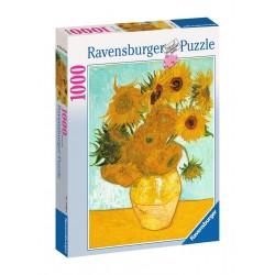 PUZZLE Ravensburger VAN GOGH vaso di girasoli 1000 PEZZI 50 x 70 cm ORIGINALE