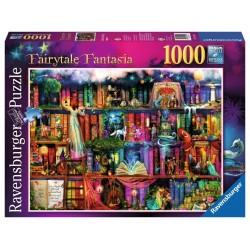 PUZZLE Ravensburger LIBRERIA DELLE FATE Fairytale Fantasia 1000 PEZZI 50 x 70 cm