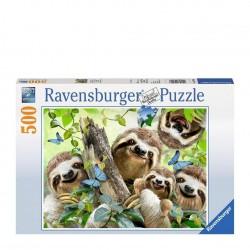 PUZZLE Ravensburger SELFIE TRA BRADIPI soft click 500 PEZZI 36 x 49 cm