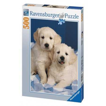 PUZZLE Ravensburger CUCCIOLI DI RETRIEVER soft click 500 PEZZI 36 x 49 cm