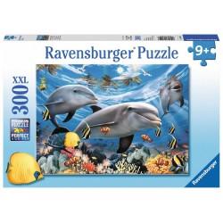 PUZZLE 300 PEZZI Ravensburger DELFINI xxl MARE barriera corallina 49 X 36 CM età 9+