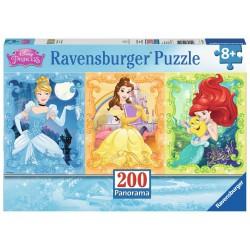 PUZZLE 200 PEZZI Ravensburger PRINCIPESSE xxl DISNEY panorama 49 X 36 CM età 9+