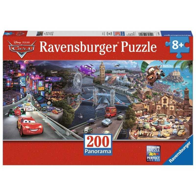 PUZZLE 200 PEZZI Ravensburger CARS xxl DISNEY PIXAR panorama 57 X 24 CM età 9+