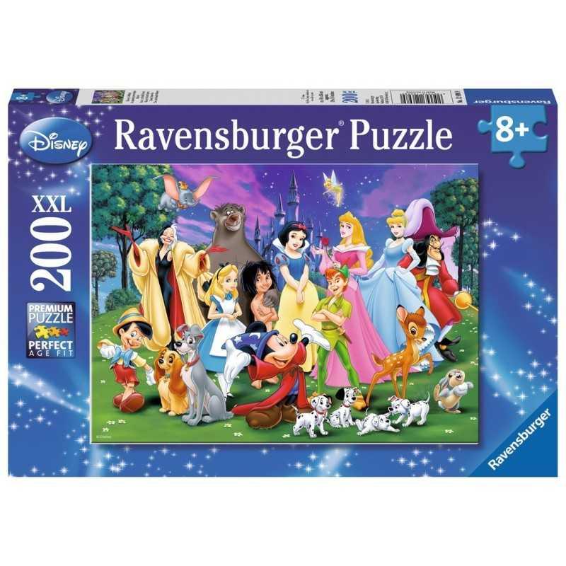 PUZZLE 200 PEZZI Ravensburger PREFERITI DISNEY xxl 49 X 36 CM età 8+