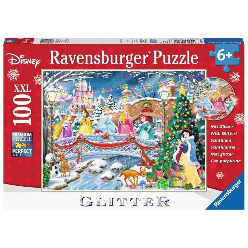 PUZZLE 100 PEZZI Ravensburger PRINCIPESSE DISNEY glitter XXL scintillante 49 X 36 CM età 6+