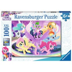 PUZZLE 100 PEZZI Ravensburger MY LITTLE PONY xxl THE MOVIE Twilight Sparkle e i suoi amici 49 X 36 CM età 6+