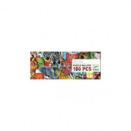 PUZZLE gioco KING'S PARTY 100 pezzi grandi DJECO gallery LA FESTA DEL RE katie o hagan DJ07639 età 5+