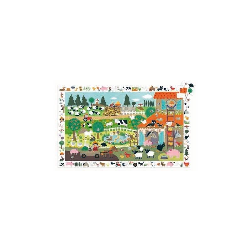 """Discovery Puzzle """"farm 2012"""" 35 PCs ages 3-5"""
