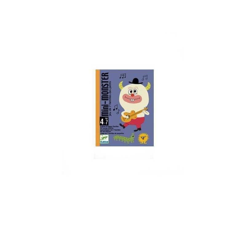 MINI MONSTER le 7 famiglie CARTE per i più piccoli FAMILY gioco DJECO portatili DJ05124 età 4+