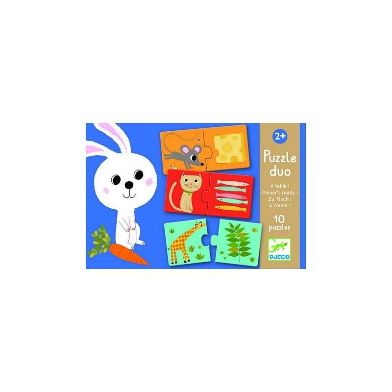 Puzzle « PUZZLE DUO A TAVOLA » 24 PCs, 2 ans +