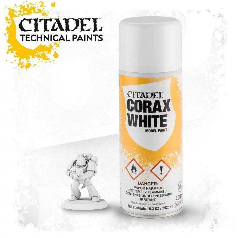 Spray bianco Corax white Citadel colore Warhammer
