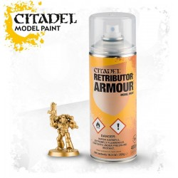 RETRIBUTOR ARMOUR SPRAY oro Gold Citadel model paint base per miniature Games Workshop