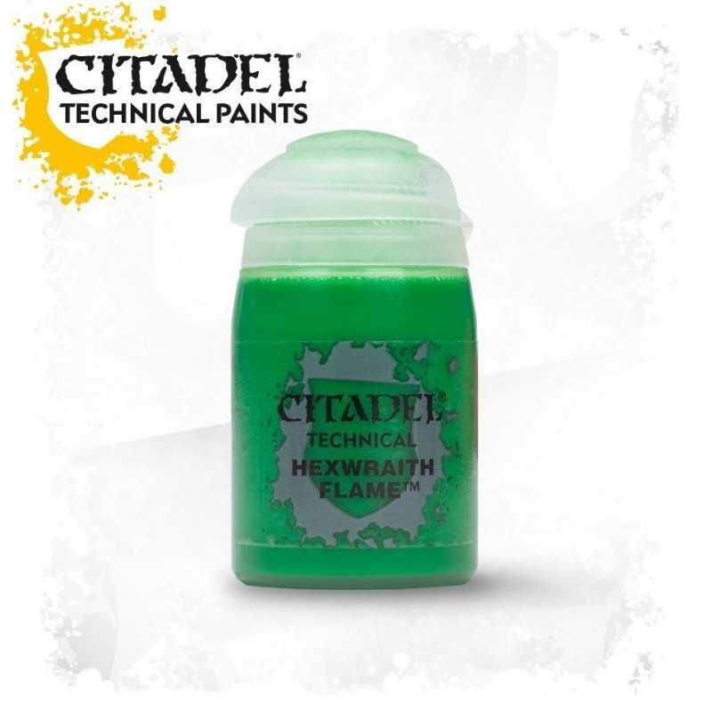 HEXWRAITH FLAME technical paint Citadel 24 ml effetto verde spettrale