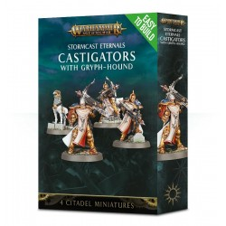 CASTIGATORS with gryph-hound CITADEL 4 miniature STORMCAST ETERNALS Warhammer AGE OF SIGMAR Easy to Build GAMES WORKSHOP età 12+