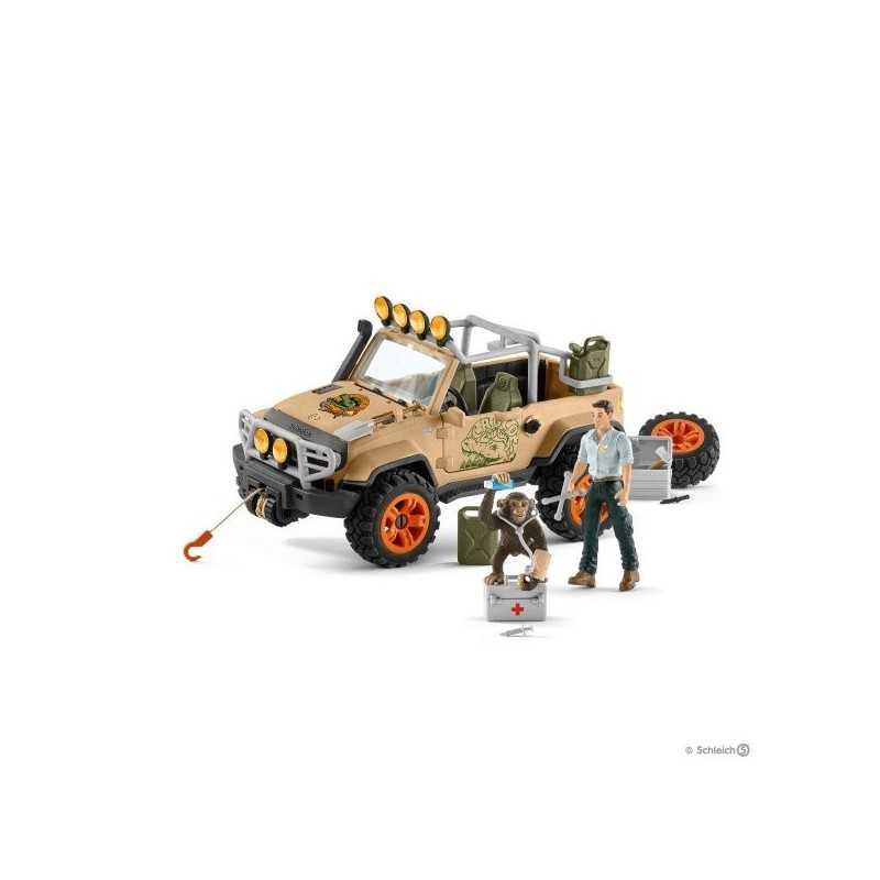Figura in Plastica SCHLEICH 42351 Moto Quad Con Rimorchio RANGER /& Tiger Wild Life