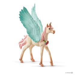 PULEDRO UNICORNO PEGASO DECORATO Schleich BAYALA miniature fantasy 70575 in resina 3+