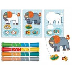 """COLORING Markers Kit For Smaller """"ZOO ZOO"""""""