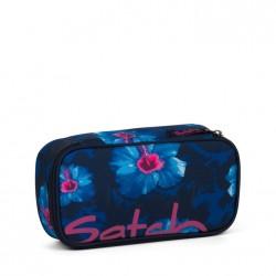 ASTUCCIO Satch WAIKIKI BLUE attrezzato BOX pencil case BLU con squadra in omaggio