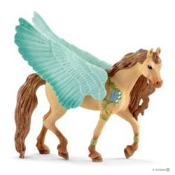 PEGASO STALLONE DECORATO cavalli BAYALA miniature in resina 70574 fantasy SCHLEICH età 5+
