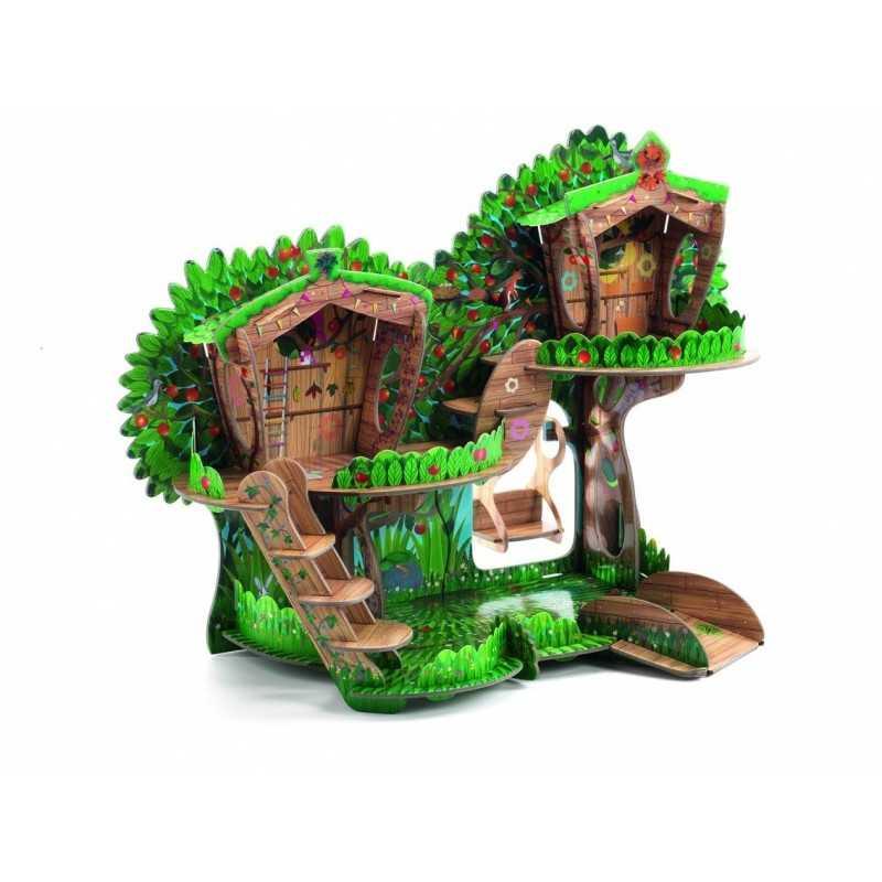 CASA SULL'ALBERO in cartone robusto 3D POP TO PLAY Djeco DJ07713 tree house 4+
