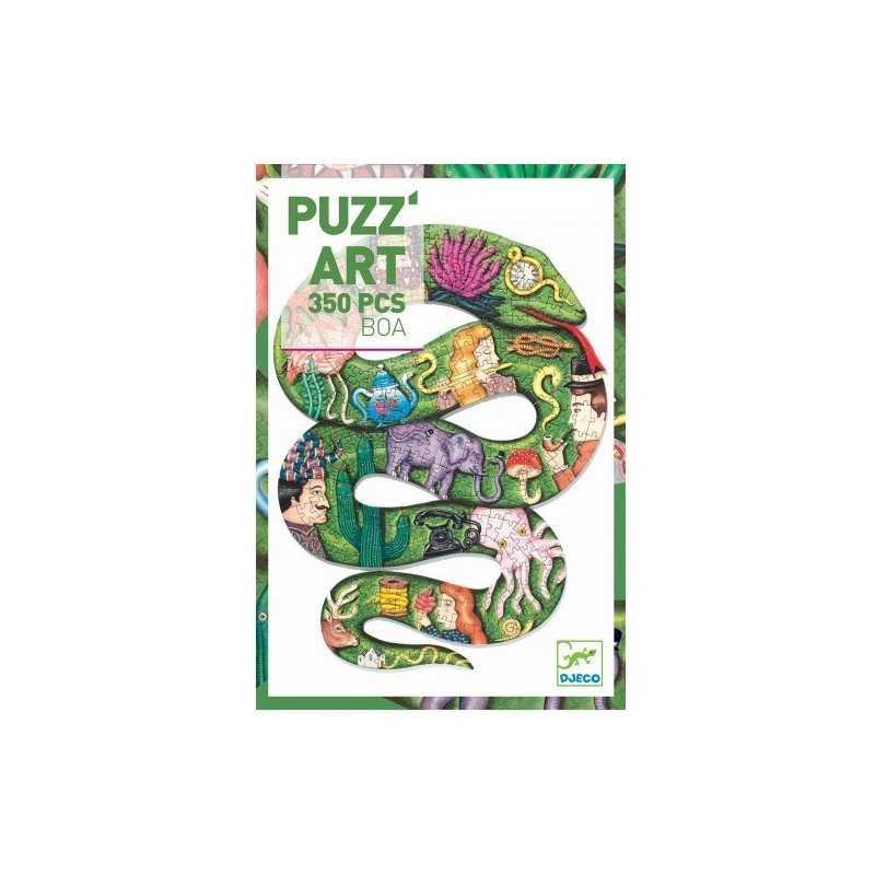 PUZZ'ART art BOA in cartone 350 PEZZI Djeco DJ07650 sagomato PUZZLE serpente SNAKE età 6+