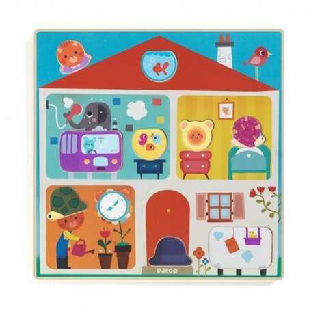 PUZZLE SWAPY in legno ANIMALI gioco DJ01519 incastri DJECO età 2+