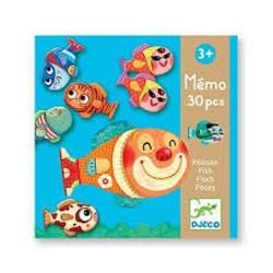 MEMO gioco PESCI memory DJ08169 associazione di immagini DJECO memoria 30 PEZZI età 3+