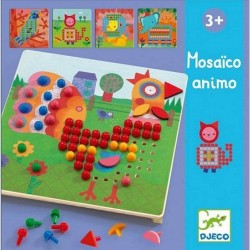 MOSAICO ANIMO kit artistico 8 TAVOLE gioco DJ08137 pedine colorate DJECO età 4+