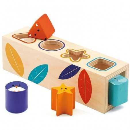 BOITA BASIC scatola DJECO incastri DJ06202 in legno FORME età 18 mesi+
