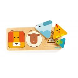 ANIMA BASIC puzzle DJECO incastri DJ06206 in legno FORME età 18 mesi+