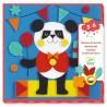 COLLAGE IN FELTRO kit artistico TENERE CREATURE 4 tavole DJECO quadri in panno DJ09863 età 3+