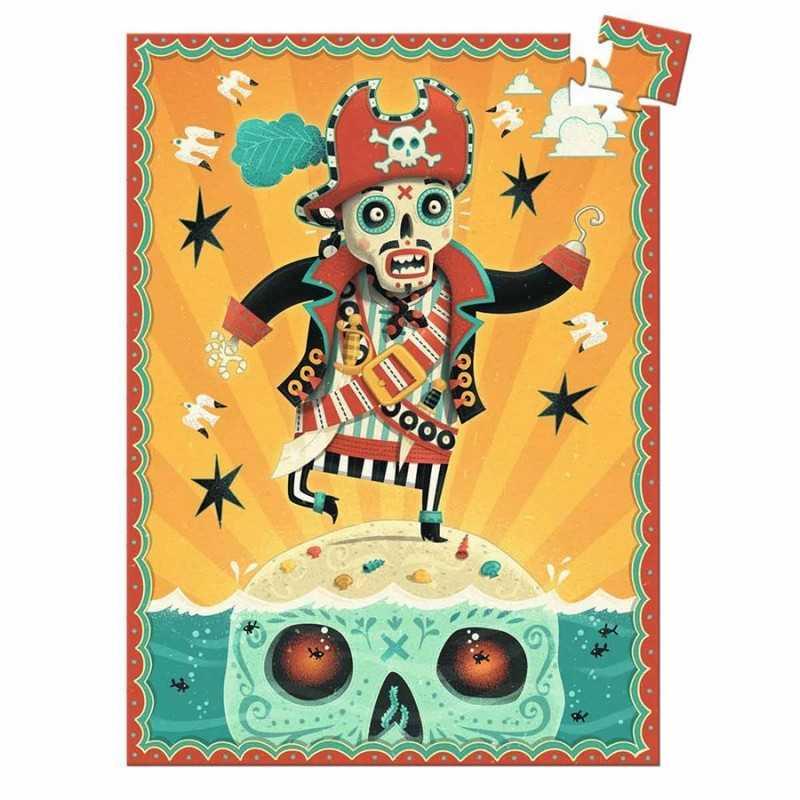 MINI PUZZLE gioco CAPTAIN BONES Djeco 60 PEZZI pirata 16 x 22 cm DJ07670 età 5+