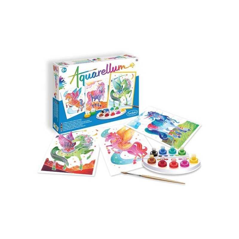 PEGASI E UNICORNI kit artistico AQUARELLUM creativo SENTOSPHERE età 8+