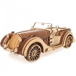 AUTO ROADSTER VM1 modellino meccanico UGEARS in legno DA COSTRUIRE vmodels 437 PEZZI età 14+
