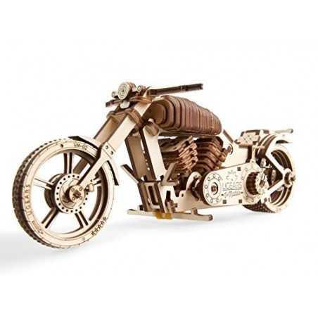 Moto BIKE VM2 modellino meccanico UGEARS in legno DA COSTRUIRE vmodels 189 PEZZI età 14+