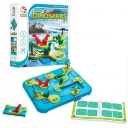 DINOSAURI isole alla deriva MYSTIC ISLANDS gioco solitario SMART GAMES educativo 80 SFIDE età 6+