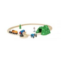 STARTER LIFT AND LOAD SET ferrovia carica e scarica TRENO in legno BRIO kit 33878 età 3+