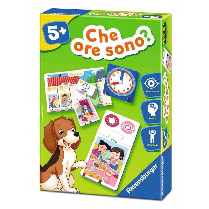 CHE ORE SONO? Ravensburger ORDINE CRONOLOGICO gioco di società L'ORA età 5+