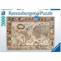 PUZZLE ravensburger MAPPAMONDO DEL 1650 - 2000 pezzi MAP OF THE WORLD FROM 1650 - 98x75cm