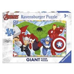 PUZZLE GIGANTE Ravensburger AVENGERS 24 pezzi MARVEL giant floor puzzle 69 X 49 CM età 3+