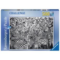 PUZZLE Ravensburger LA SFIDA DELLE ZEBRE 500 pezzi ZEBRA CHALLENGE 49x36cm