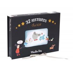 COFANETTO 32 dischi CINEMA LUSSO torcia che proietta storie MOULIN ROTY 711114 età 4+