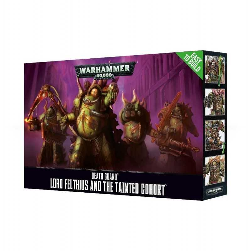 LORD FELTHIUS AND THE TAINTED COHORT Death Guard easy to build Warhammer 40k Nurgle 4 miniatures