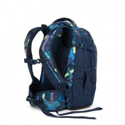 ZAINO SATCH PACK SPLASHY LAZER scuola ergonomico in materiale riciclato BLUE E NERO