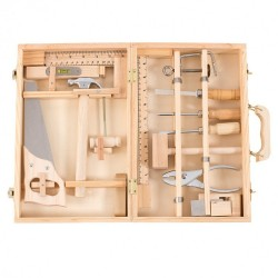 VALIGETTA GRANDE 12 ATTREZZI in legno MOULIN ROTY scatola L'ATELIER DU BRICOLAGE 710412 età 6+