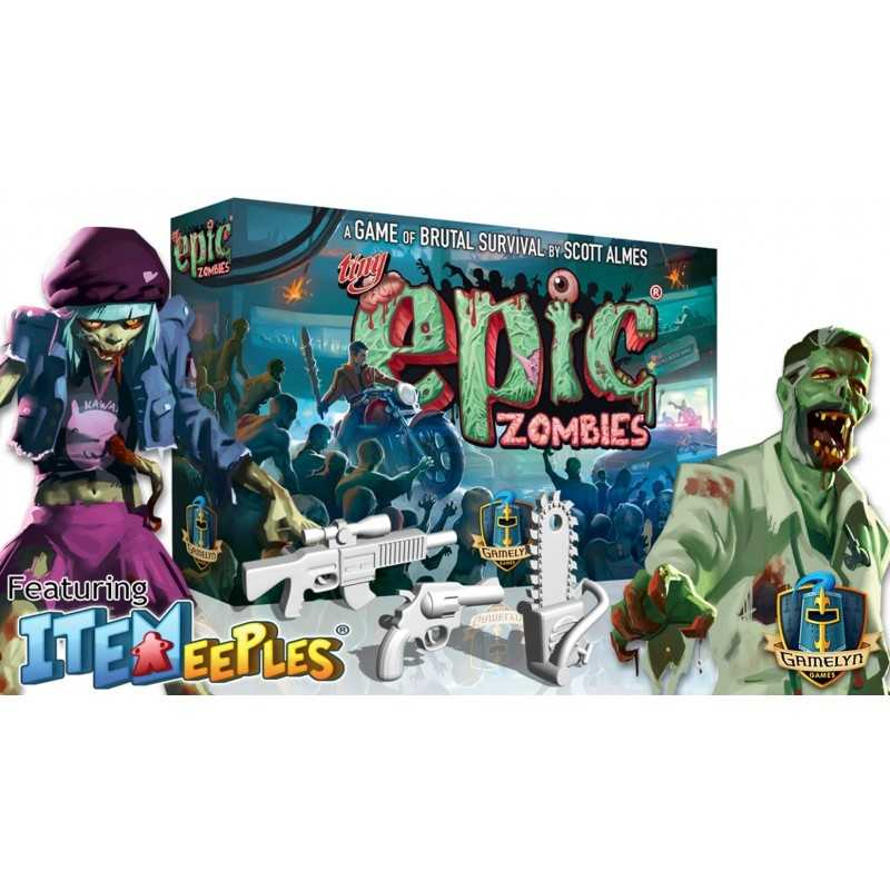 TINY EPIC ZOMBIES Deluxe Edition including Kickstarter exclusives 2018 Gamelyn Games